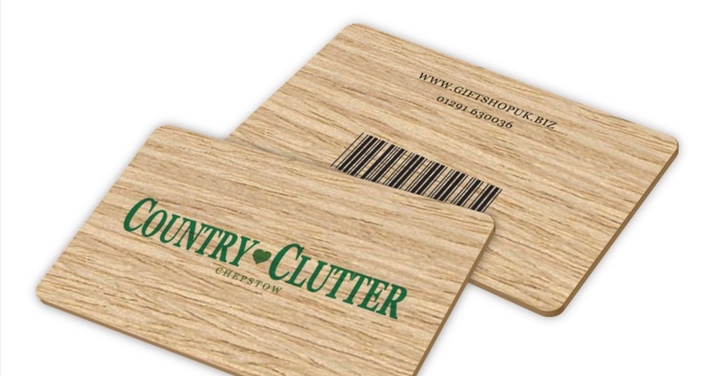 Wooden gift card image